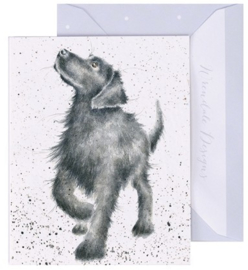 Wrendale Designs 'Walkies' miniature card