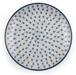 Bunzlau Plate 26,5 cm Flower Fountain