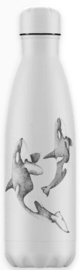 Chilly's Drink Bottle 500 ml Sealife Orca -mat met reliëf-