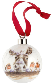 Wrendale Designs 'The Christmas Donkey' Christmas Bauble