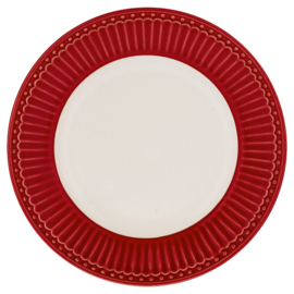 GreenGate Small Plate Alice red -stoneware-