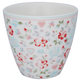 GreenGate Latte Cup Merla white -stoneware- *product with failure*