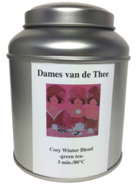 Dames van de Thee -Cosy Winter Blend Green- blikje 100 gram *Thee van de Maand*