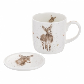 Wrendale Designs Gentle Jack Mug & Coaster Set
