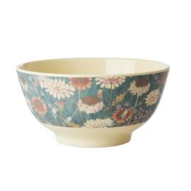 Rice Medium Melamine Bowl - Fall Flower Print