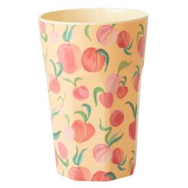 Rice Tall Melamine Cup - Peaches Print