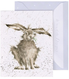 Wrendale Designs 'Hare-Brained' miniature card
