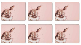 Wrendale Designs Set of 6 Rabbit Placemats -small size-