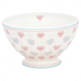 GreenGate French Bowl Medium Penny white -stoneware-