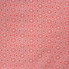 Rice Pastel Neon Coral Marrakesh Printed Oilcloth