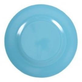 Rice Melamine Round Dinner Plate in Turquoise