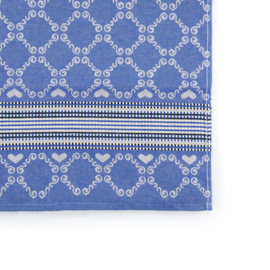Bunzlau Table Runner Lace Royal Blue 65 x 140 cm