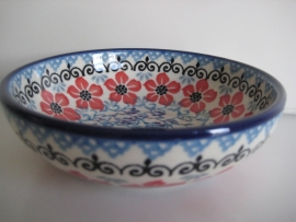 Bunzlau Serving Bowl 13 cm Red Violets