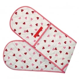 Emma Bridgewater Pink Hearts Double Oven Glove