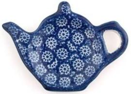 Bunzlau Teabag Dish Teapot 10 cm Lace