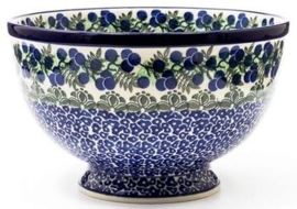 Bunzlau Bowl on Foot Large 25,5 cm Myrtille