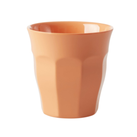 Rice Solid Colored Medium Melamine Cup in Apricot