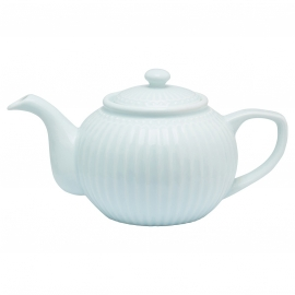 GreenGate Teapot Alice pale blue -stoneware-