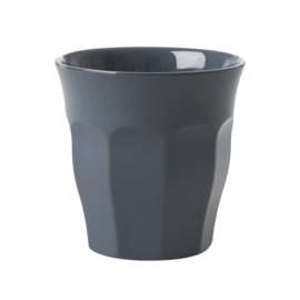 Rice Solid Colored Medium Melamine Cup in Dark Grey