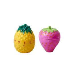 Rice Pineapple and Strawberry Shaped Egg Timers