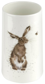 Wrendale Designs 'The Hare and the Bee' Vase -17 cm hoog-