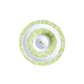 Rice Melamine Egg Cup with Spring Flower Print - Green