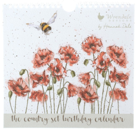 Wrendale Designs 'The Country Set' Birthday Calendar