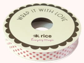 Rice Cotton Gift Wrapping with 6 Assorted Designs - 15 Meter