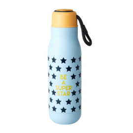Rice Isolating Drinking Bottle with 'BE A SUPER STAR' print - RVS