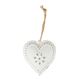 Sass & Belle Vintage Heart Decoration Cream