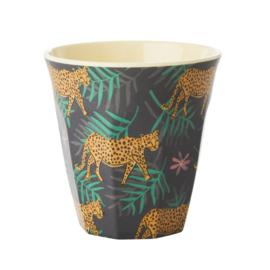Rice Medium Melamine Cup - Leopard and Leaves Print