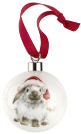Wrendale Designs 'Ho Ho Ho' Christmas Bauble