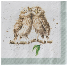 Wrendale Designs Lunch Napkins What a Hoot