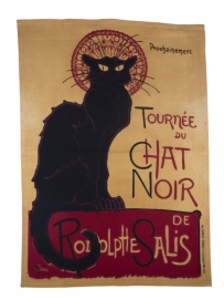 Theedoek Chat Noir