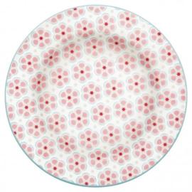 GreenGate Small Plate Leah pale pink -stoneware-