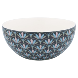 GreenGate Cereal bowl Victoria Dark Grey -stoneware-