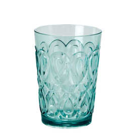 Rice Acrylic Tumbler with Swirly Embossed Detail - Mint