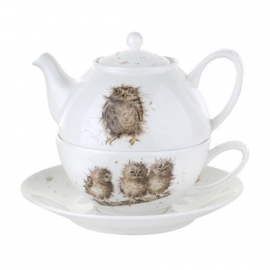 Wrendale Designs Tea For One with Saucer Owls
