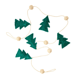 Rice Raffia Christmas Garland in Natural - 100 cm