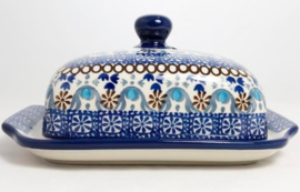 Bunzlau Butter Dish with Plate Seville