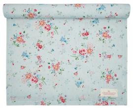 GreenGate Table Runner Belle pale blue 45 x 140 cm