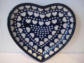 Bunzlau Heart Shape Dish Blue Valentine