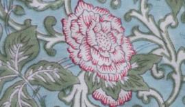 Rozablue Theedoek Chintz roza & blue