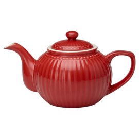 GreenGate Teapot Alice red *product with failure*