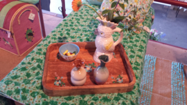Rice Unique Ceramic vase in Gradient Colors - Green, Cream and Pink