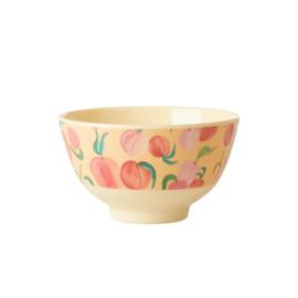 Rice Small Melamine Bowl - Peach Print