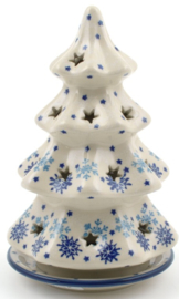 Bunzlau Christmas Tree for Tealight H 15 cm Christmas Stars