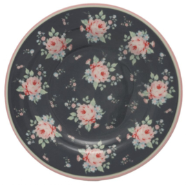 GreenGate Small Plate Marley dark grey -stoneware-