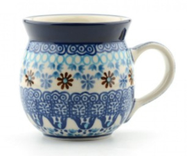 Bunzlau Farmers Mug 240 ml Blue Coral