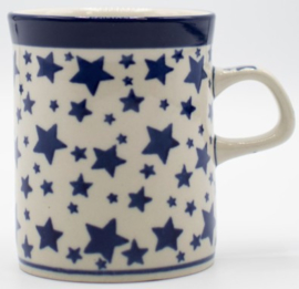 Bunzlau Straight Mug 250 ml White Stars